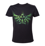 Camiseta The Legend of Zelda Distress Green Royal Crest - S