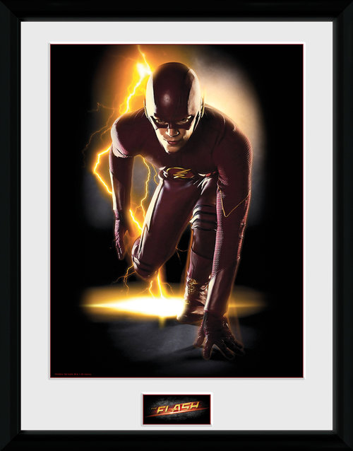 Póster Flash Speed enmarcado