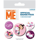 Gru, Mi Villano Favorito Pack 5 Chapas It's So Fluffy