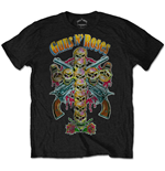 Camiseta Guns N' Roses  Skull Cross 80s