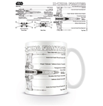Star Wars Taza X-Wing Fighter Sketch