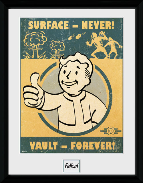 Póster Fallout 4 Vault Forever enmarcado