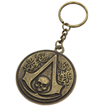 Llavero Assassins Creed - Round Metal Crest & Skull