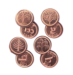 El Hobbit Set de Monedas #3 4 Shire Farthings