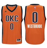 Camiseta Oklahoma City Thunder Russell Westbrook adidas New Swingman Alternate Naranja