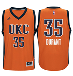 Camiseta Oklahoma City Thunder Kevin Durant adidas New Swingman Alternate Naranja
