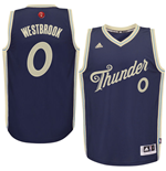 Camiseta Oklahoma City Thunder Russell Westbrook adidas 2015 Christmas Day Swingman Azul