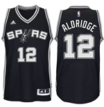 Camiseta San Antonio Spurs LaMarcus Aldridge adidas New Swingman Road Negra