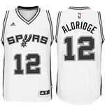 Camiseta San Antonio Spurs LaMarcus Aldridge adidas New Swingman Home Blanco
