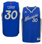 Camiseta Golden State Warriors Stephen Curry adidas 2016 Christmas Day Swingman Azul