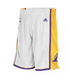 Shorts adidas Los Angeles Lakers New Swingman Blanco