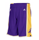 Shorts adidas Los Angeles Lakers New Swingman Morado