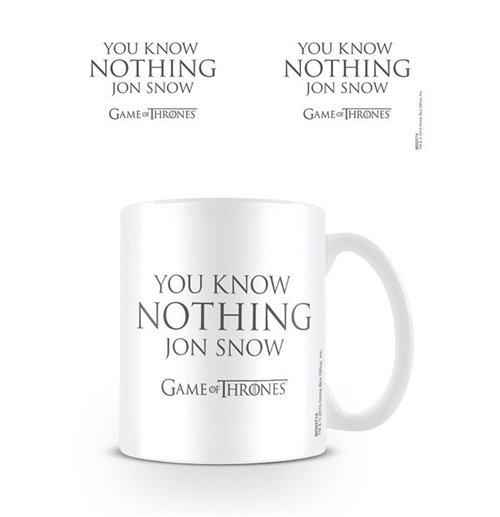 Compra Juego De Tronos Taza You Know Nothing Jon Snow Original