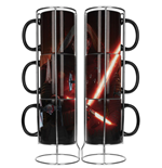 Star Wars Episode VII Pack de 3 Tazas Kylo Lightsaber