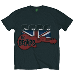 Camiseta Beatles - Guitar & Flag - Negra