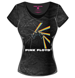 Camiseta de mujer Pink Floyd - Acid Wash MULTI-LOGO Black Grey