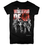 Camiseta The Walking Dead - Hands Blood Splatter Girls