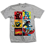 Camiseta Marvel Superheroes - Marvel Montage Gris