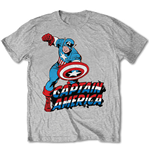 Camiseta Marvel Comics - Simple Captain America Grey
