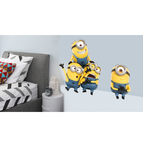 pegatina para pared minions finger in eye