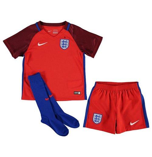 Compra Mini conjunto Inglaterra 2016-2017 Away Nike de niño Original 3e90f3ab532d1