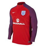 Camiseta mangas largas Inglaterra 2016-2017 Nike Authentic Strike Drill (Rojo)