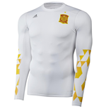Camiseta manga larga Tech Fit España 2016-2017 Adidas (blanca)
