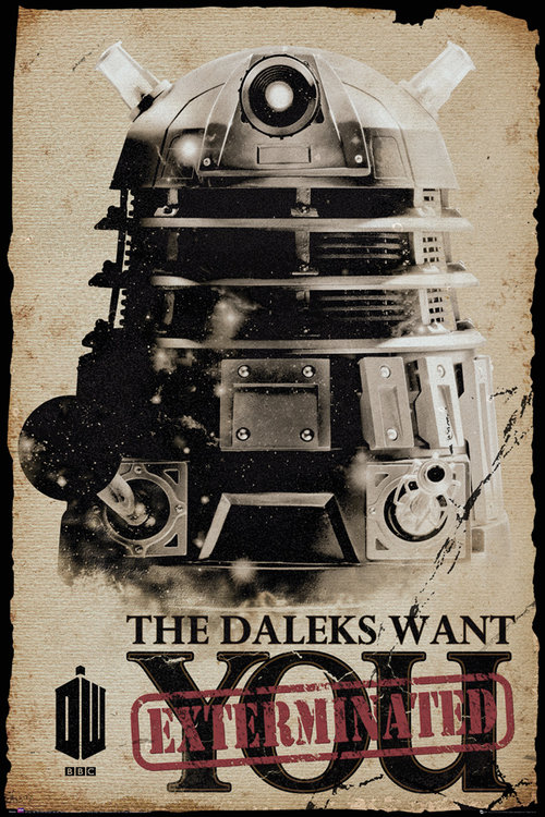 Póster Doctor Who Daleks Want You