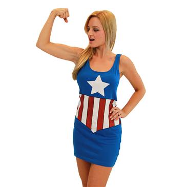 Vestido Capitán América