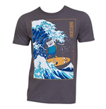 Camiseta Hora de aventuras Surfing The Great Wave Japanese