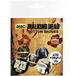 Pack Chapitas The Walking Dead