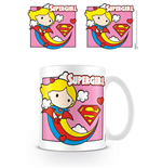 Justice League Taza Chibi Supergirl Pink