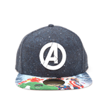 Vengadores Gorra Béisbol Snap Back Logo with Comic Print