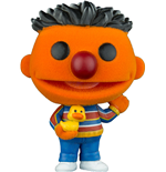 Barrio Sésamo Figura POP! TV Vinyl Ernie (Flocked) 9 cm