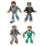 Regreso al Futuro Pack de 4 Minifiguras Minimates 5 cm 30th Anniversary 1985 Box Set