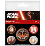 Pack Chapitas Star Wars Episode VII - Resistance