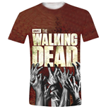 Camiseta The Walking Dead - Hands Logo Full Printed