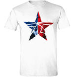 Camiseta Capitán America - Civil War - Cracked Star Blanca