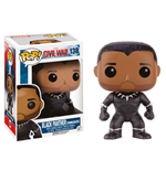 Captain America Civil War POP! Vinyl Cabezón Black Panther (Unmasked) 9 cm