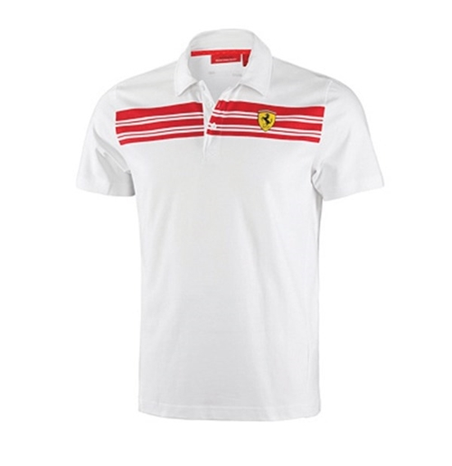 Polo Blanco Ferrari