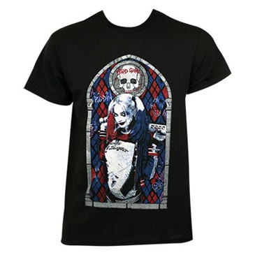 Camiseta Suicide Squad Stained Glass