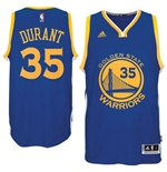 Camiseta  Golden State Warriors Kevin Durant adidas New Swingman Road Azul