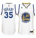 Camiseta Golden State Warriors Kevin Durant adidas New Swingman Home Blanco