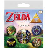 The Legend of Zelda Pack 5 Chapas Link