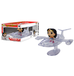 DC Comics POP! Rides Vinyl Vehículo con Figura Invisible Jet & Wonder Woman 12 cm