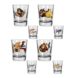 DC Comics Bombshells Pack de 4 Vasos de Chupitos Girls