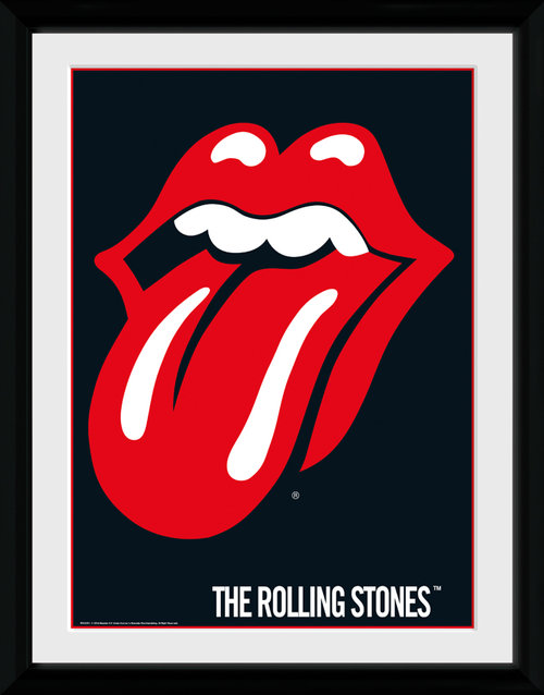 Póster The Rolling Stones Lips Enmarcado