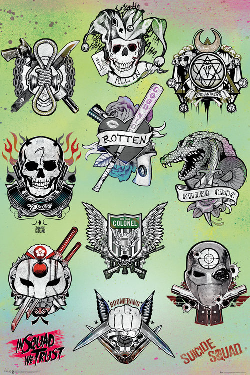 Póster Suicide Squad Tattoo Parlour
