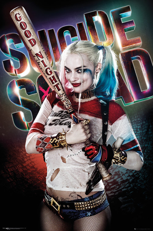 Póster Suicide Squad Harley Quinn Good Night