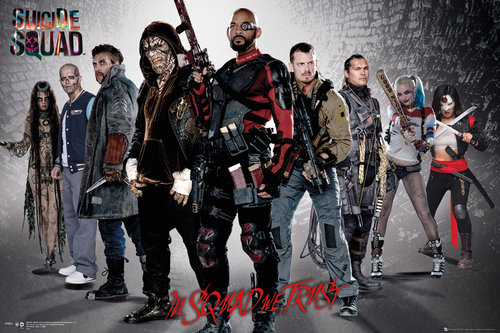 Póster Suicide Squad Group